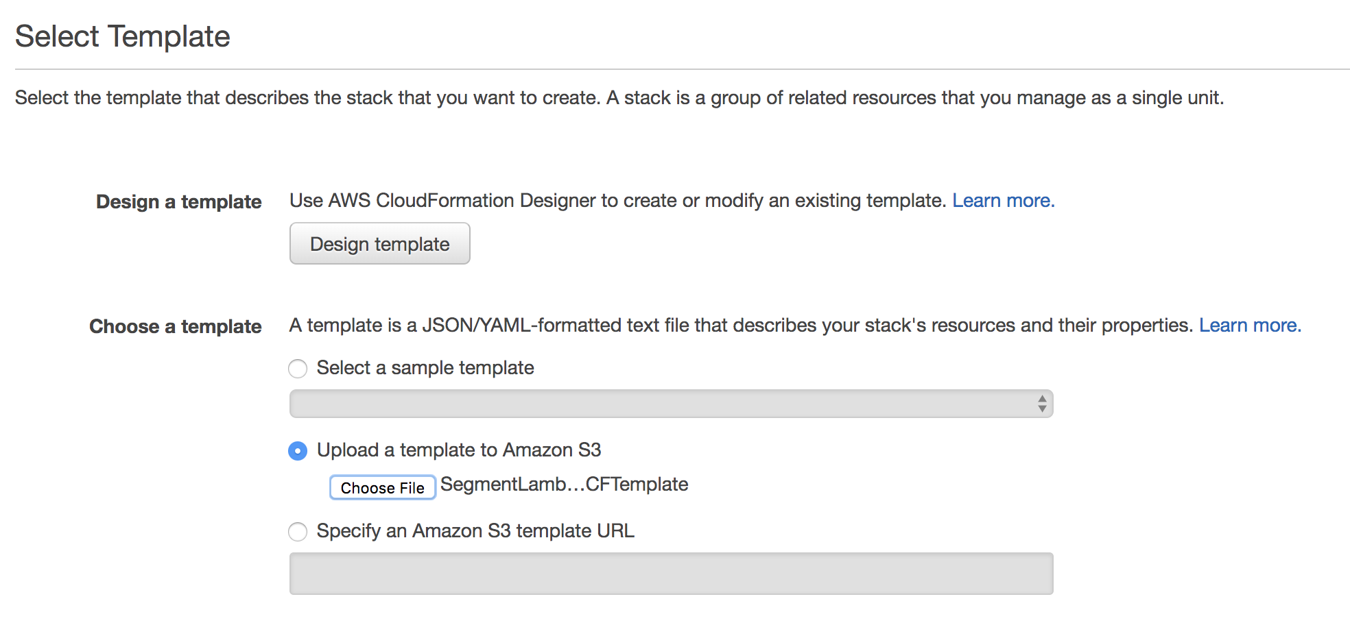 Amazon Lambda Destination Documentation - Segment