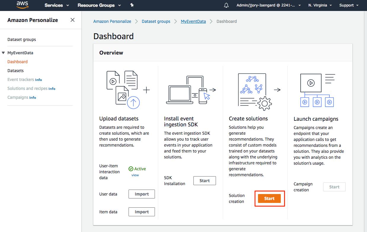 Amazon Personalize Destination Documentation - Segment