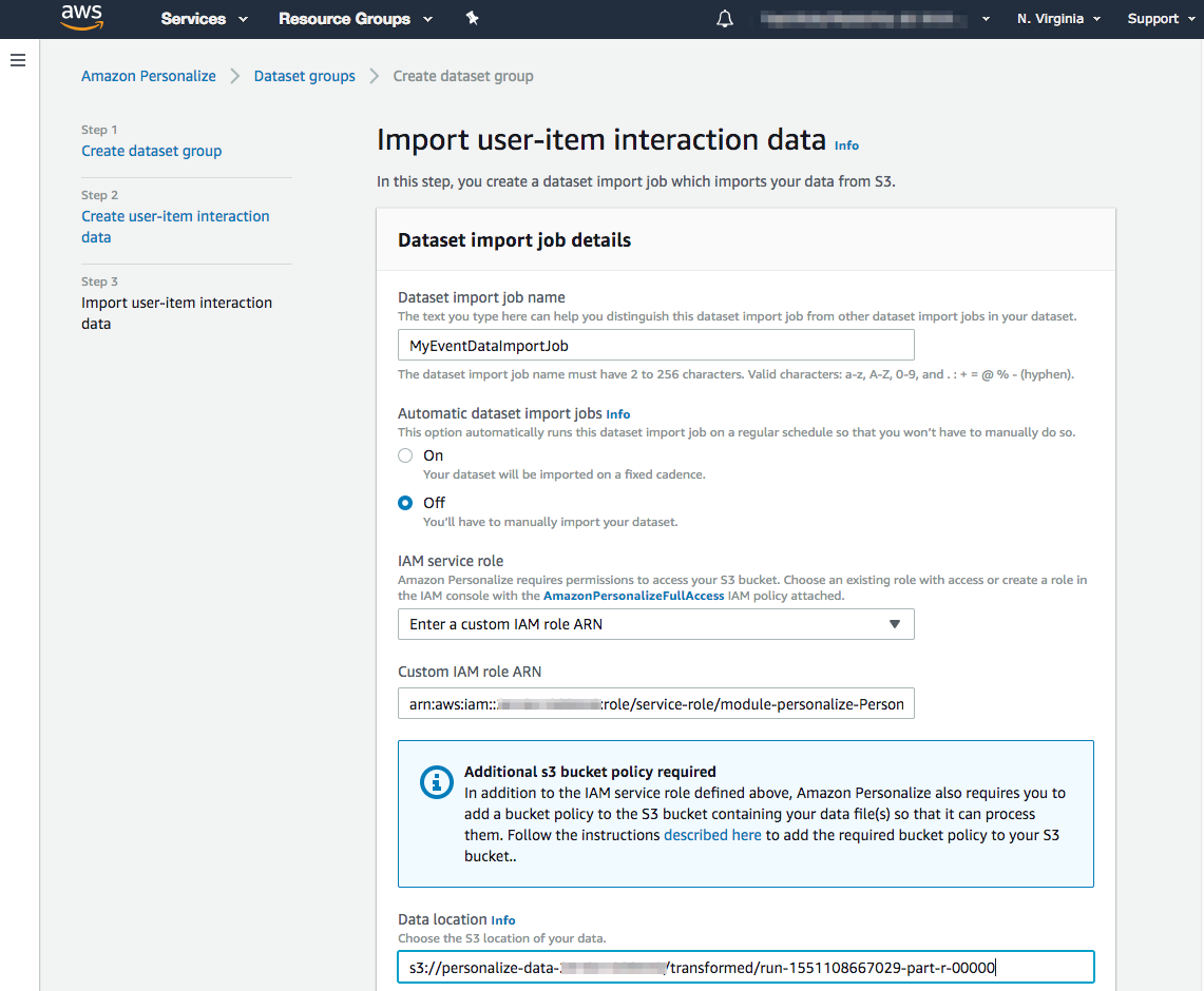 Amazon Personalize Destination Documentation - Segment