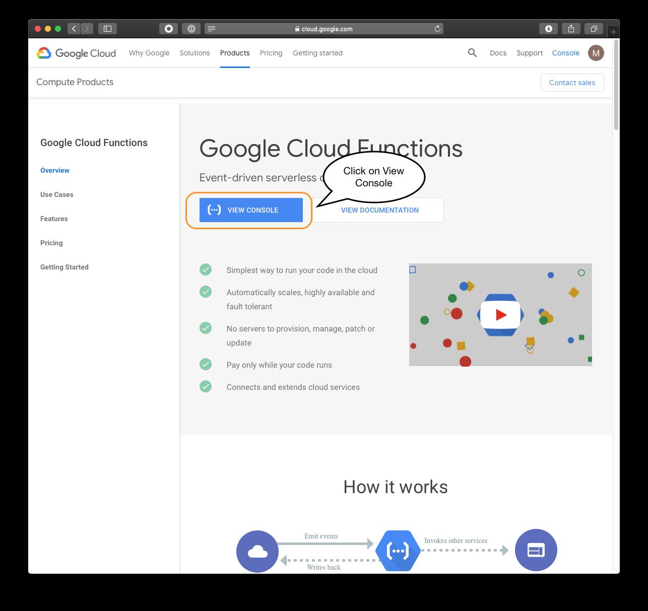 Google Cloud Function Destination Documentation - Segment
