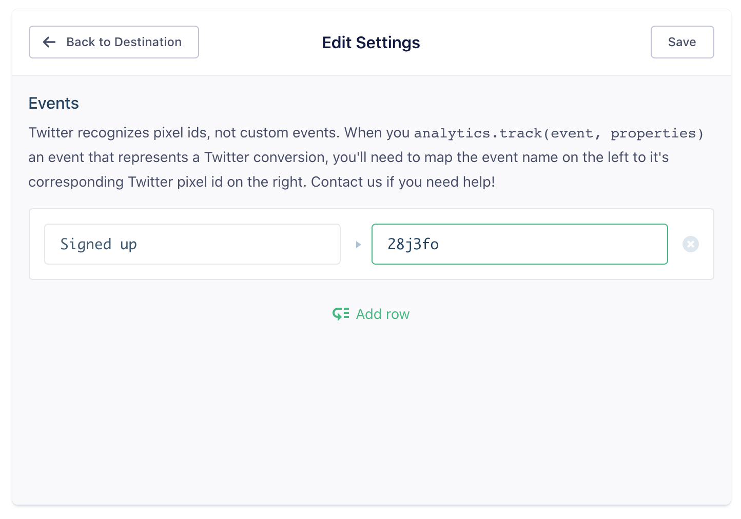 Twitter Ads Destination Documentation - Segment